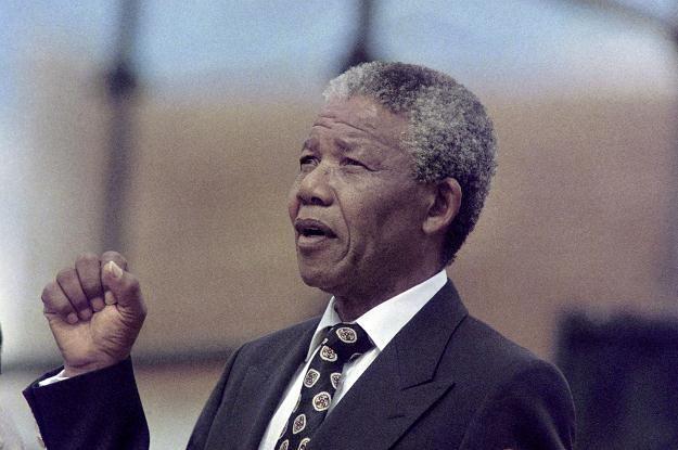 Nelson Mandela w Afrykańskim Kongresie Narodowym. Soweto, 16 grudnia 1990 /AFP