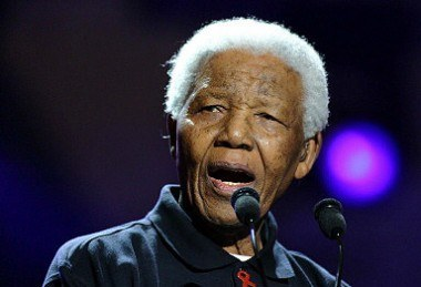 Nelson Mandela w Johannesburgu /AFP