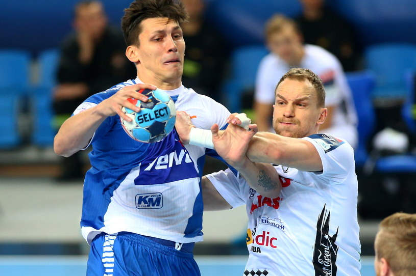 Nemanja Obradović w meczu z Elverum Handball /Marcin Bednarski /PAP