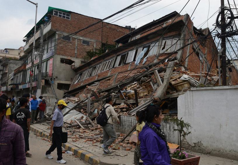 Nepal po trzęsieniu ziemi /AFP