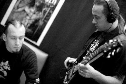Nergal (Behemoth) w studiu /