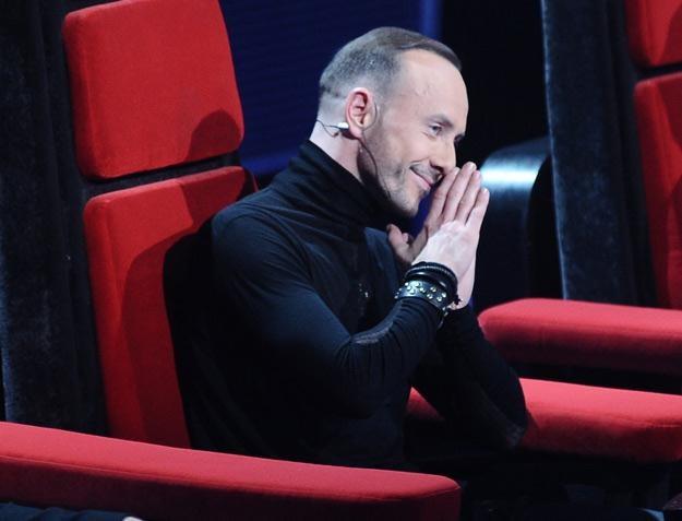 "Nergal na planie programu ""The Voice Of Poland"" - fot. Andras Szilagyi /MWMedia"