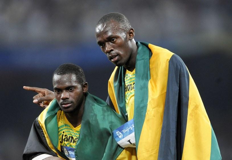 Nesta Carter (z lewej) i Usain Bolt /AFP