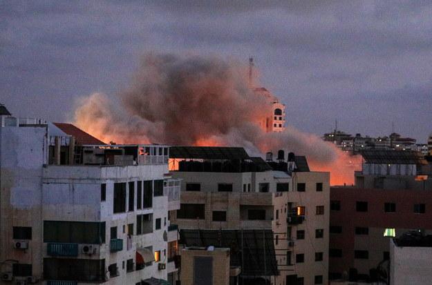 """Netanjahu ogłosił, że operacja przeciwko terrorystom w Gazie była """"wyjątkowym sukcesem"""" /MOHAMMED SABER  /PAP/EPA"""