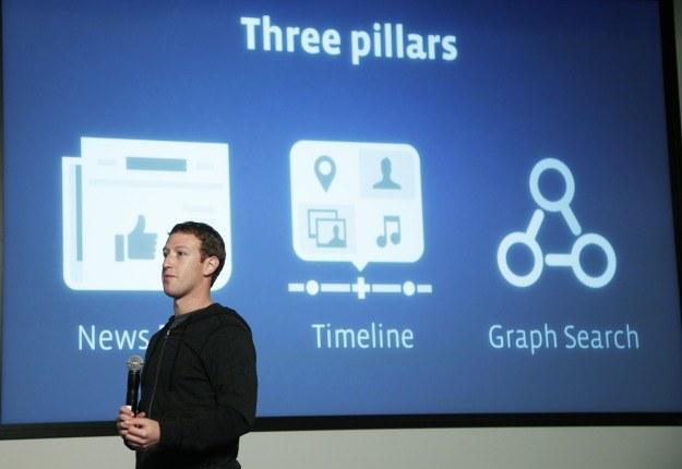 News Feed, Oś Czasu a teraz Graph Search - trzy filary Facebooka /AFP