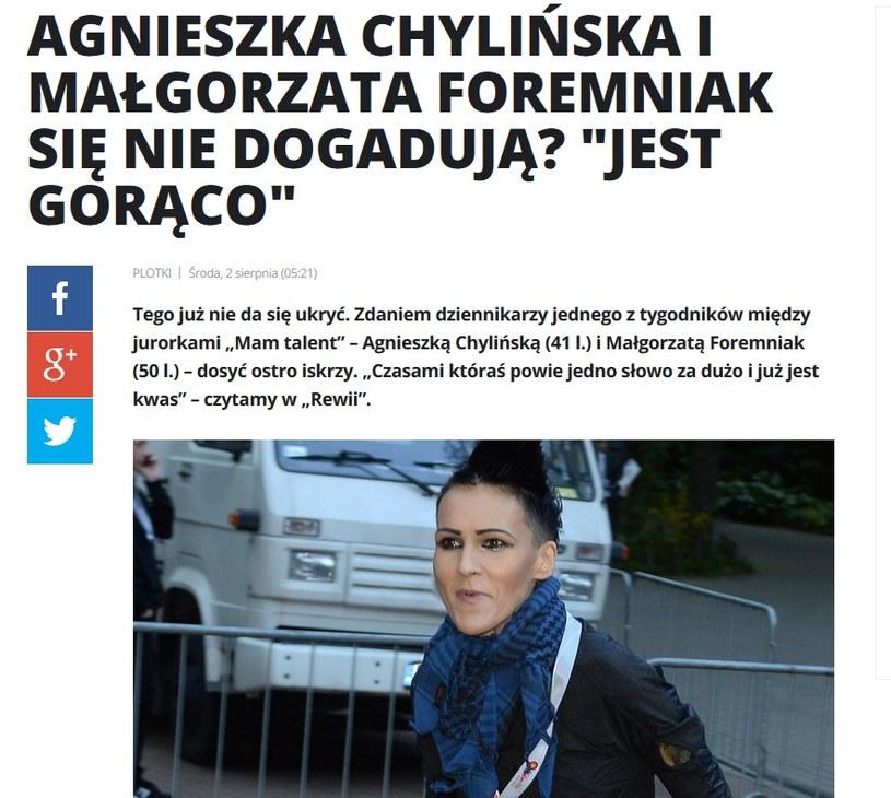 News o Agnieszce Chylińskiej /pomponik.pl