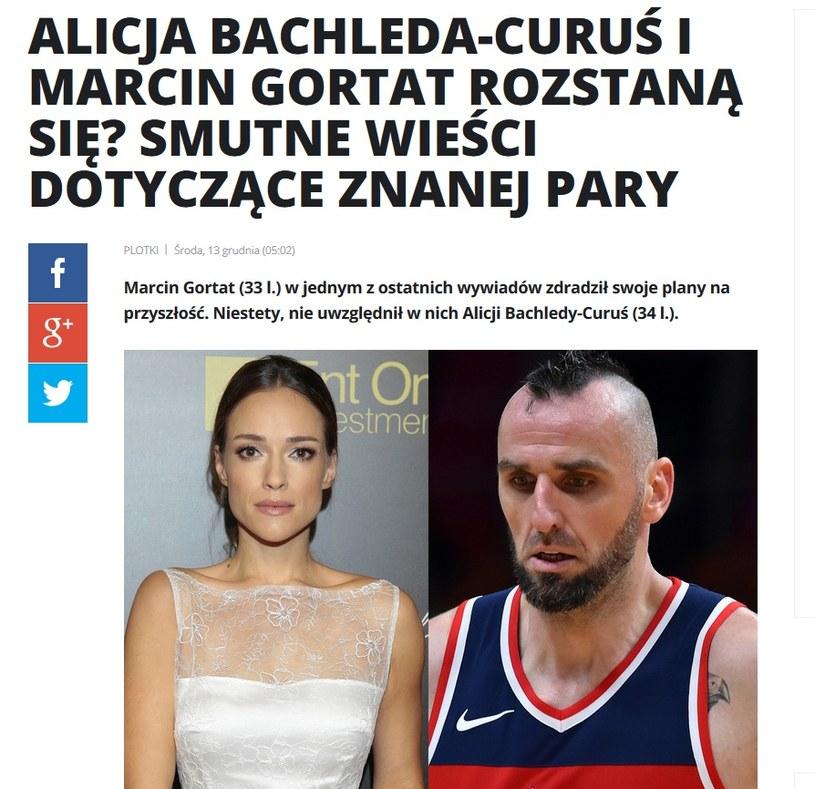 News o Alicji Bachledzie-Curuś i Marcinie Gortacie /pomponik.pl