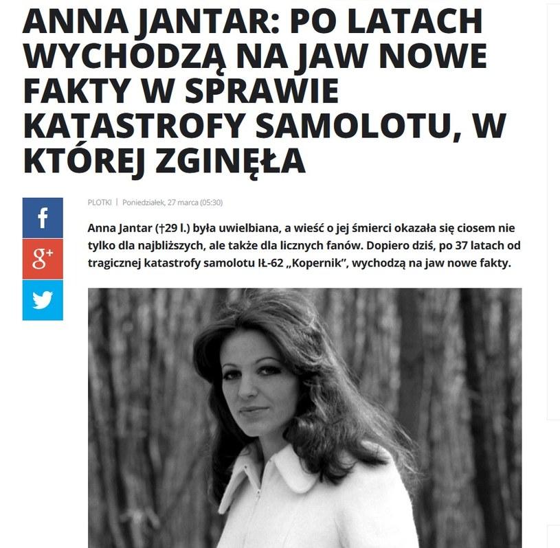 News o Annie Jantar /pomponik.pl