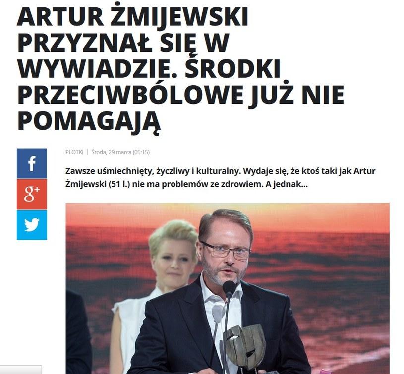 News o Arturze Żmijewskim /pomponik.pl