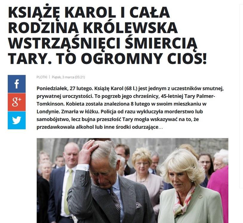 News o księciu Karolu /pomponik.pl