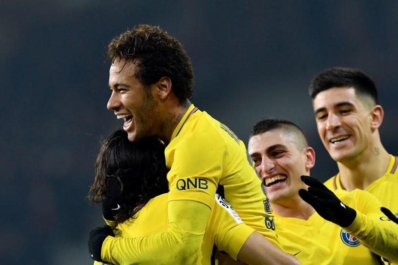 Neymar cieszy się z 18. gola w Ligue1 /AFP