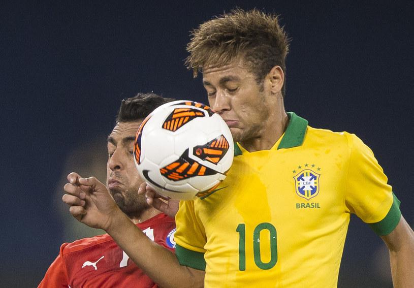 Neymar - gwiazda reprezentacji Brazylii /AFP