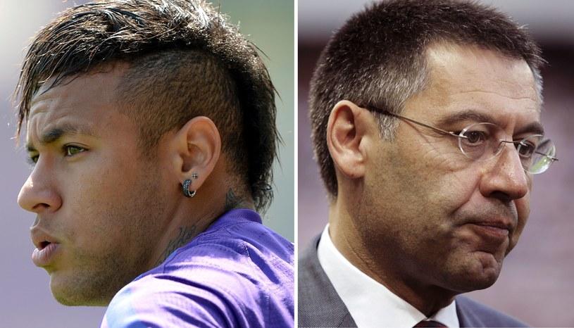 Neymar i Josep Maria Bartomeu /AFP