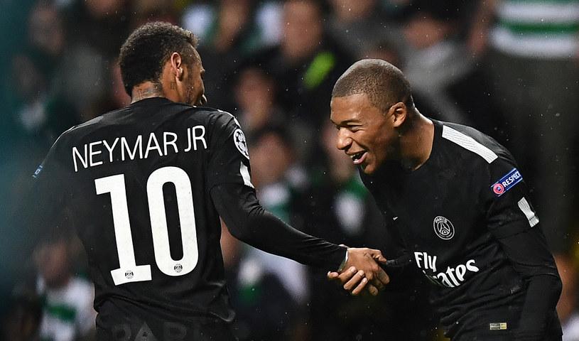Neymar i Kylian Mbappe z PSG /AFP