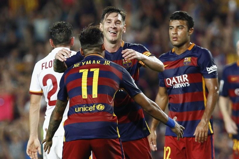 Neymar i Lionel Messi strzelili po jednym golu w meczu z Romą /AFP