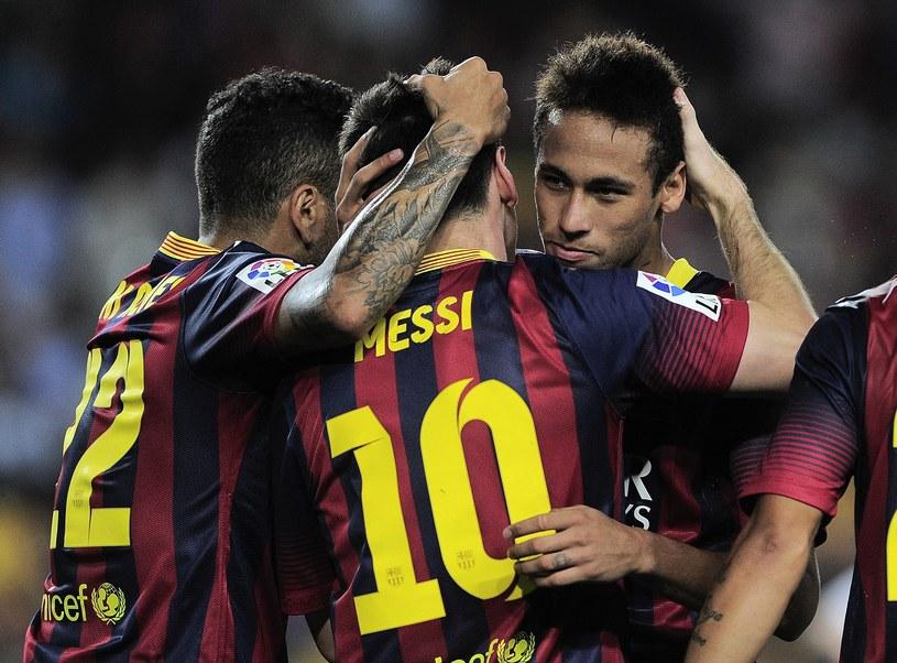 Neymar i Messi - duet gwiazd Barcelony /AFP