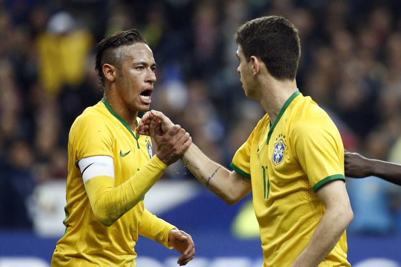 Neymar i Oscar strzelili po jednym golu w meczu towarzyskim z Francją /PAP/EPA