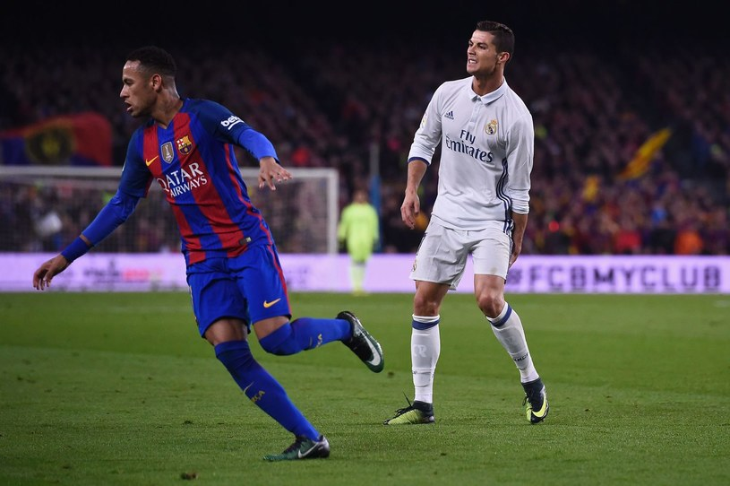 Neymar i Ronaldo podczas meczu ligowego /AFP