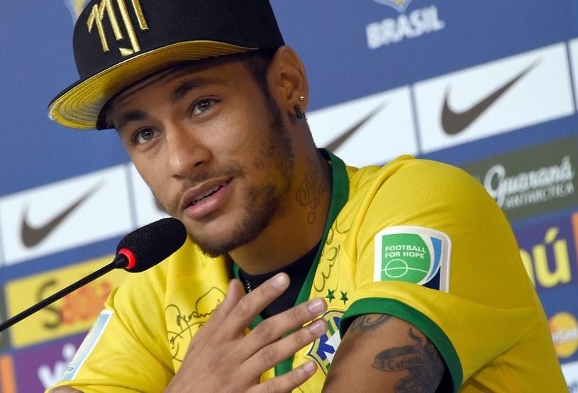 Neymar na konferencji prasowej /AFP
