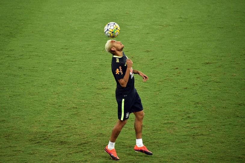 Neymar na treningu Brazylijczyków /AFP