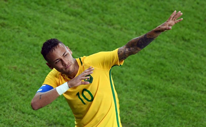 Neymar po golu cieszył się jak Usain Bolt. /AFP