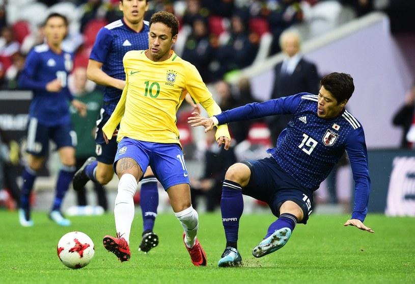 Neymar w meczu z Japonią /PAP/EPA