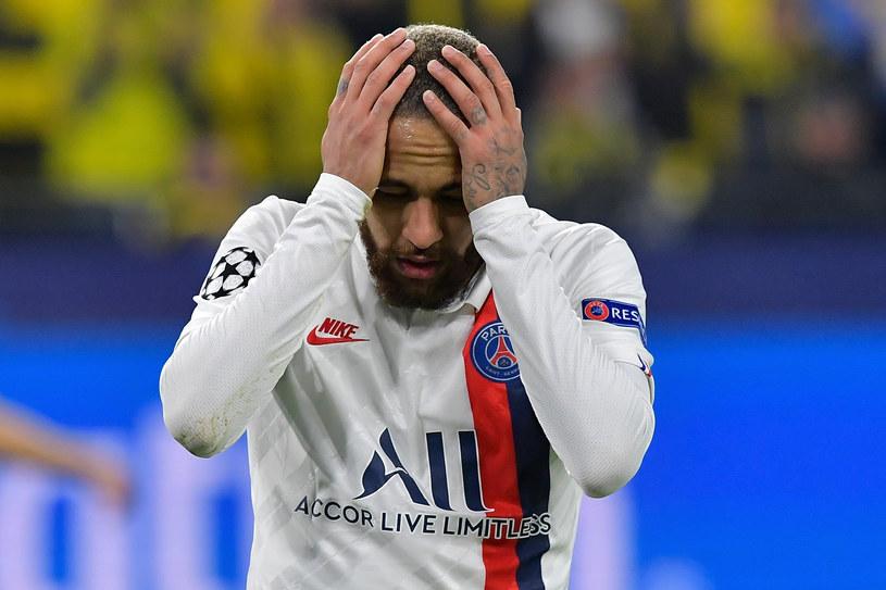 Neymar w trakcie meczu z Borussią Dortmund /TOBIAS SCHWARZ /AFP