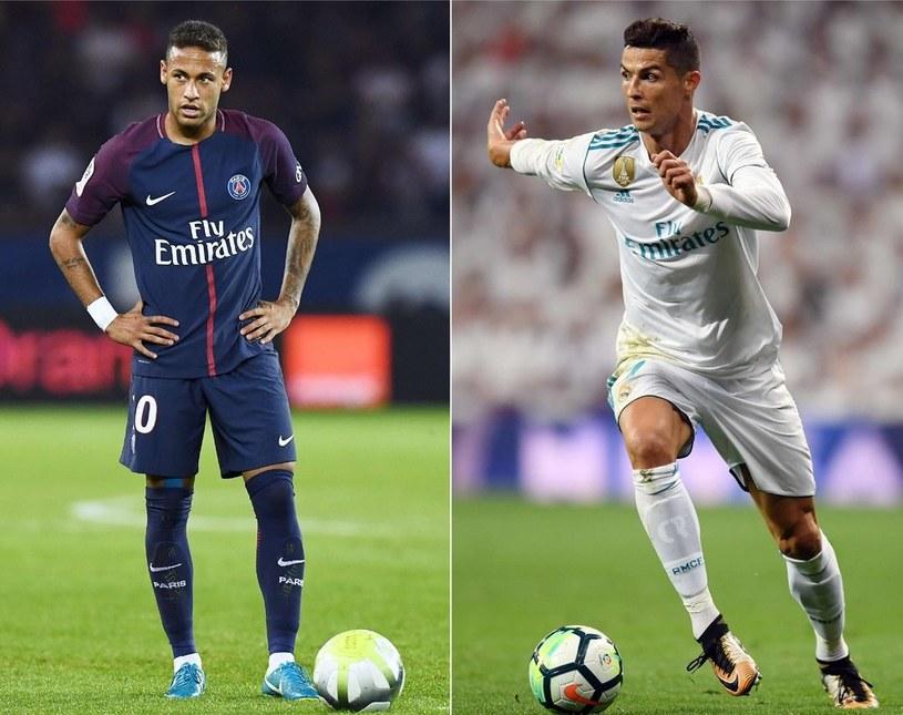 Neymar (z lewej) i Cristiano Ronaldo /AFP