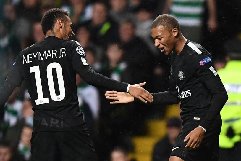 Neymar (z lewej) i Kylian Mbappe - zabójczy duet PSG /AFP