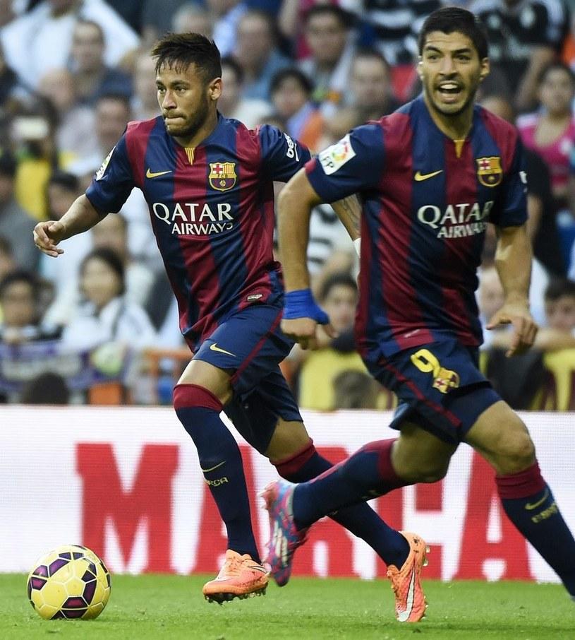 Neymar (z lewej) i Luis Suarez /AFP