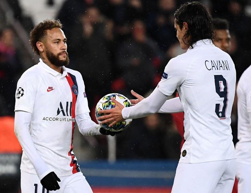 Neymar (z lewej) oraz Edinson Cavani /AFP