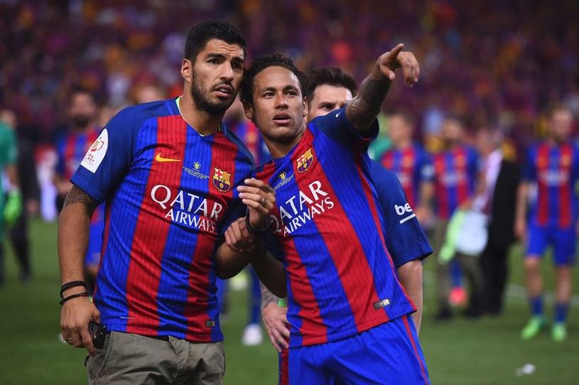 Neymar (z prawej) i Luis Suarez /AFP
