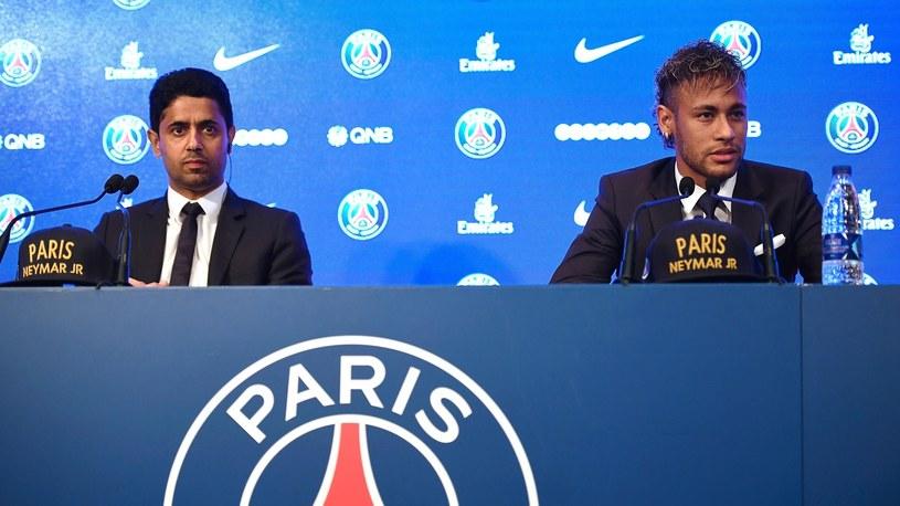 Neymar (z prawej) i właściciel PSG Nasser Al-Khelaifi /Getty Images