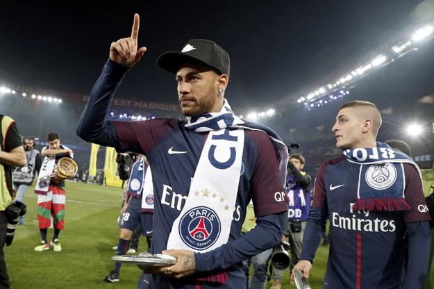Neymar z PSG zdobył mistrzostwo Francji i Puchar Francji /PAP/EPA/CHRISTOPHE PETIT TESSON /PAP/EPA