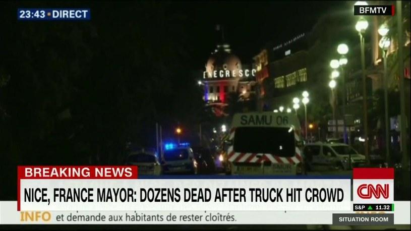 Nicea: Ciężarówka wjechała w tłum. Dziesiątki ofiar / CNN /Twitter