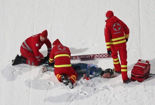 Nicholas Fairall po wypadku /Daniel Karmann /PAP/EPA