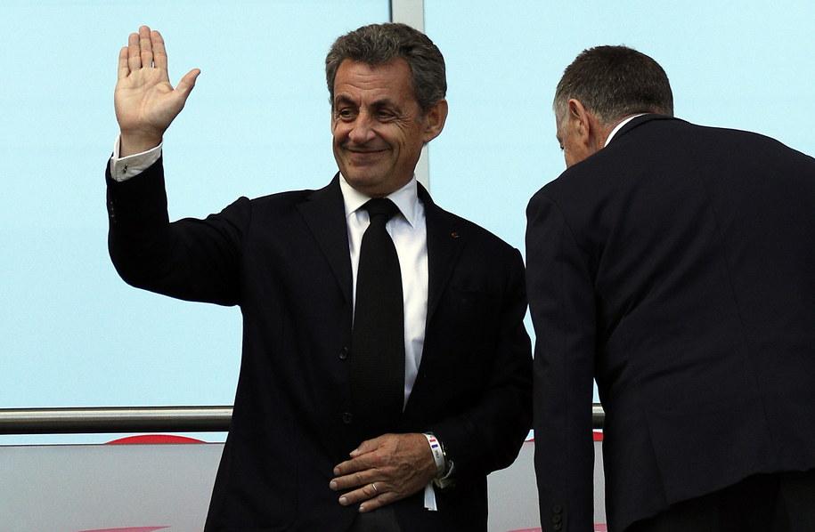 Nicholas Sarkozy podczas wizyty w Moskwie /SERGEY DOLZHENKO /PAP/EPA