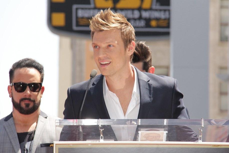 Nick Carter podczas uroczystości odsłonięcia gwazdy Backstreet Boys w Alei Sław w Los Angeles /CA Photo/Newscom/HPA/DPA /PAP