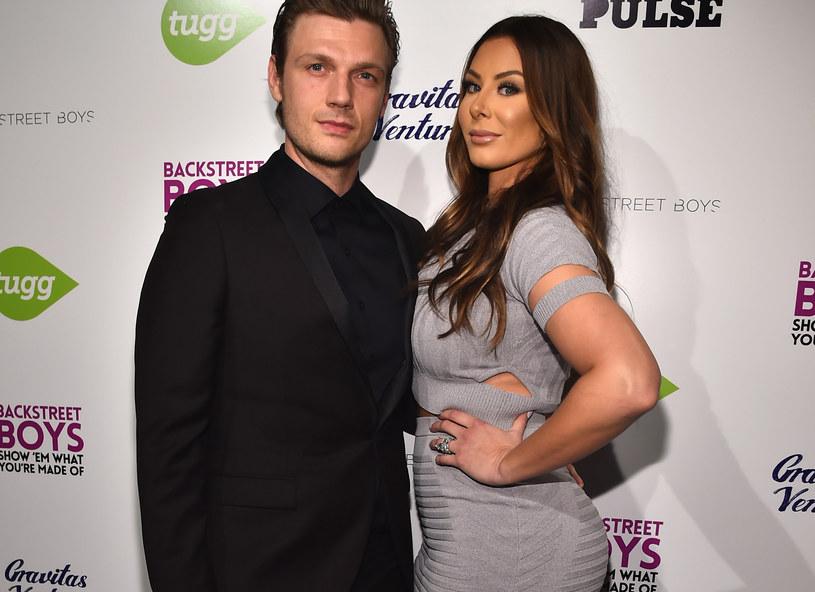 Nick Carter z żoną /Alberto E. Rodriguez /Getty Images