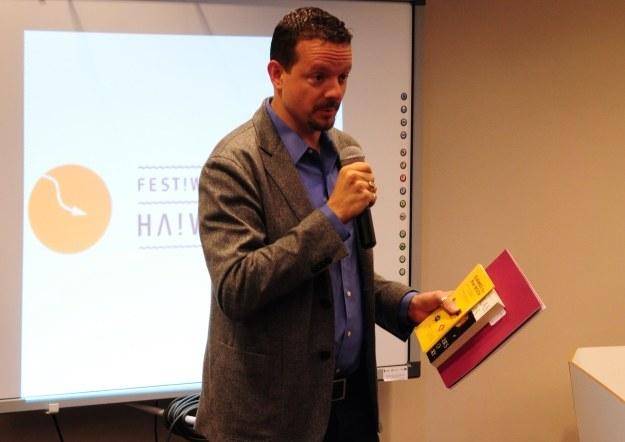 Nick Montfort podczas spotkania w Krakowie, Fot: Korporacja Ha!art /INTERIA.PL