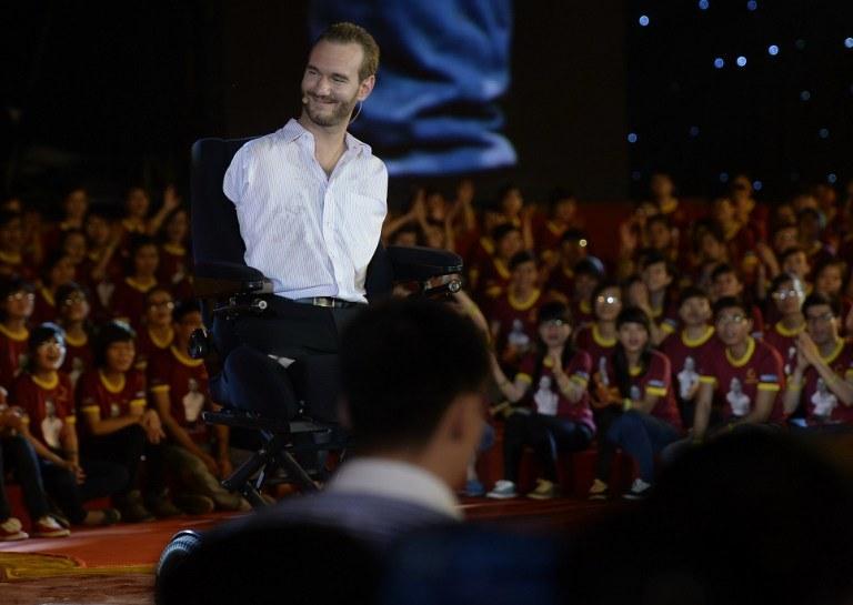 Nick przemawia do tłumów; zdj. ilustracyjne /HOANG DINH NAM /AFP