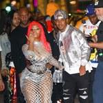 Nicki Minaj wybrała się na imprezę w przezroczystej sukience