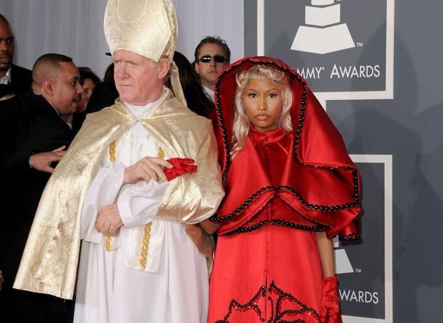 "Nicki Minaj z ""papieżem"" - fot. Jason Merritt /Getty Images/Flash Press Media"