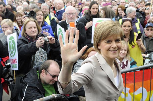Nicola Sturgeon zasygnalizowała możliwość kolejnego referendum niepodległościowego fot. Andy Buchanan /AFP