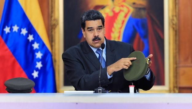 Nicolas Maduro /MIRAFLORES PRESS OFFICE  /PAP/EPA