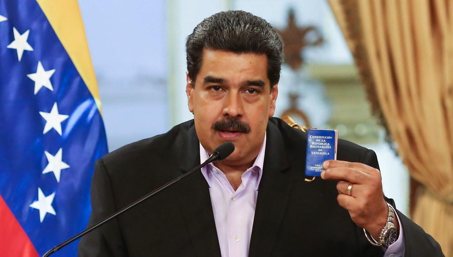Nicolas Maduro /MIRAFLORES HANDOUT /PAP/EPA