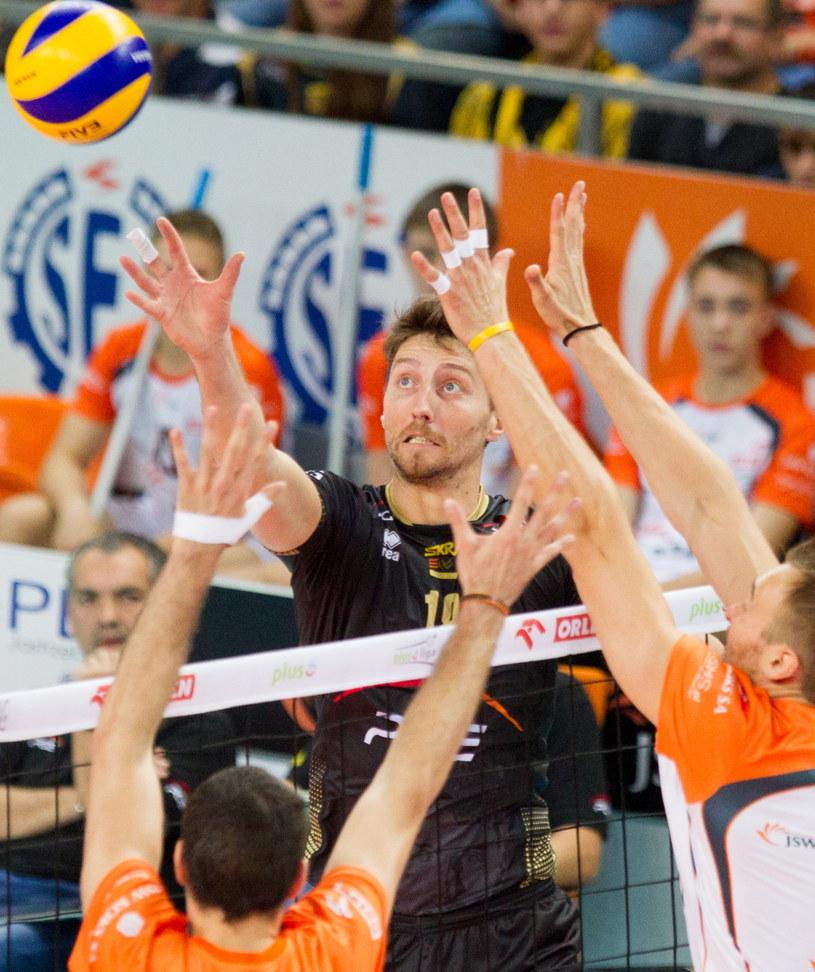 Nicolas Marechal w meczu z Jastrzębskim Węglem /Fot. Andrzej Grygiel /PAP
