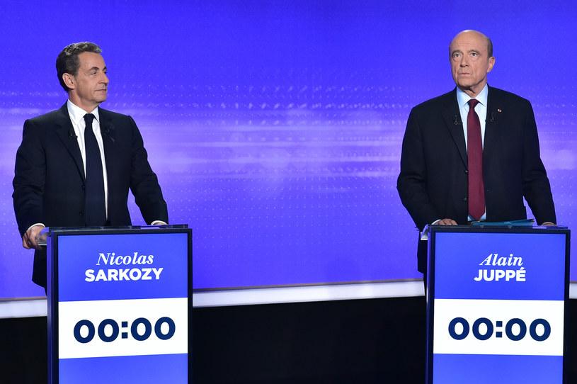Nicolas Sarkozy i Alain Juppe /AFP