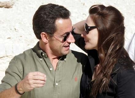 Nicolas Sarkozy i Carla Bruni /AFP