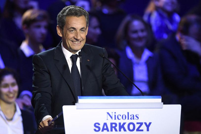 Nicolas Sarkozy opowiada się za twardą polityką w kwestii bezpieczeństwa /AFP